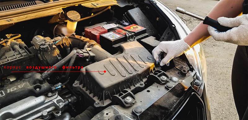 замена фильтра двигателя равон р2